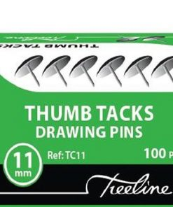 11mm Silver Drawing Pins (100's)
